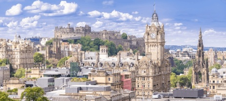 Edinburgh Castle from the city side. Source: https://www.inspiringtravelscotland.com/news/inspiring-your-travel-the-best-cities-to-visit-in-scotland