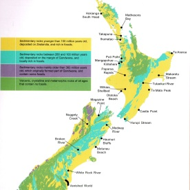 "Locations featured in ""The Kiwi Fossil Hunter's Handbook"""