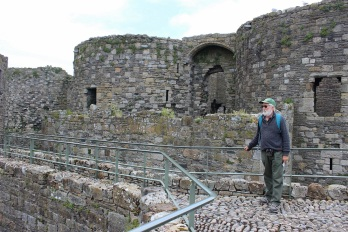 Up on the Beaumaris castle wall