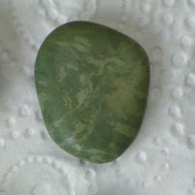 Fossilised worm cast stone found on a Riverton beach.