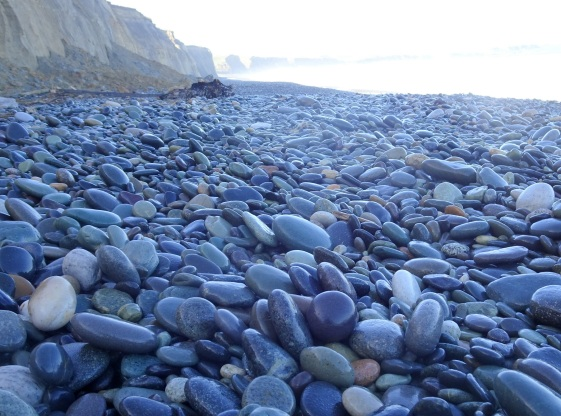 The stones of Gemstone Beach