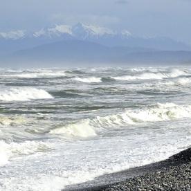 Gemstone Beach, looking westwards