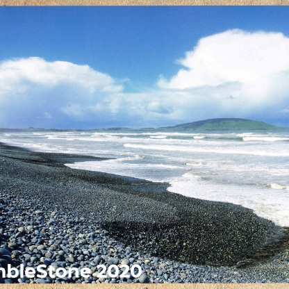 Front Cover of Calendar - View east along Gemstone Beach, from near the Waimeamea River Mouth