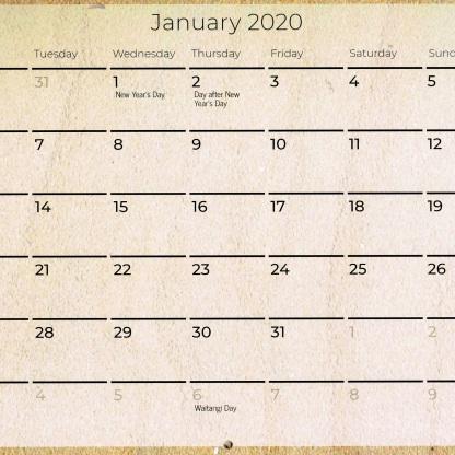 01 Jan dates