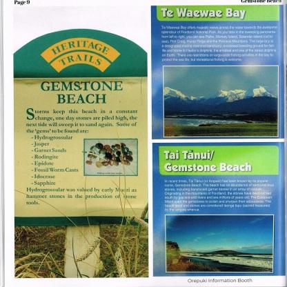 Some information about Gemstone Beach.